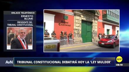 Publicidad estatal | Blume dice que el TC puede declarar inconstitucionales algunos artículos de la ley