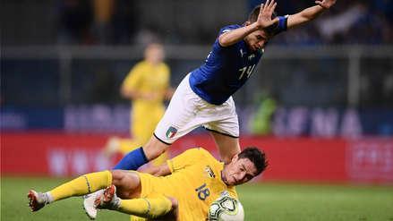 Italia empató 1-1 con Ucrania y sumó 5 partidos consecutivos sin ganar