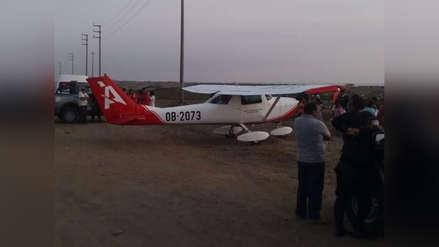 Video   Una avioneta aterrizó de emergencia en Trujillo