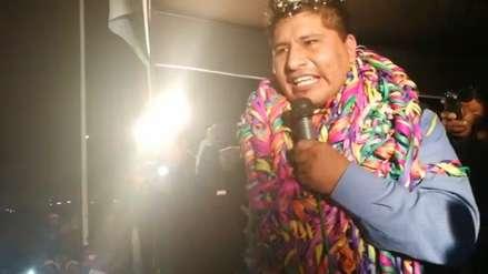 Walter Aduviri, virtual gobernador regional de Puno, reapareció tras 10 meses en la clandestinidad