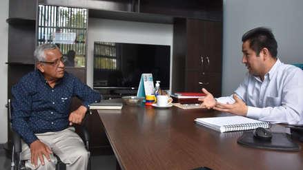Anselmo Lozano se reunió con gerente de Espel para conocer sobre obras en ejecución