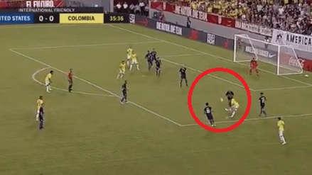 Colombia: James Rodríguez anotó un golazo de zurda ante Estados Unidos