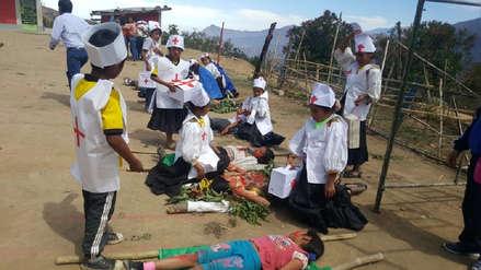 Niños de la zona andina dan el ejemplo en temas de prevención