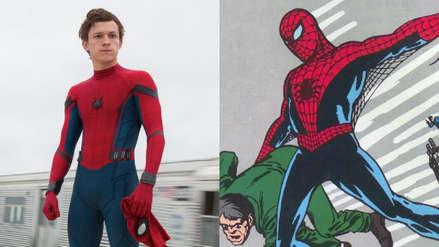 """""""Spider-Man, Far from Home"""": Tom Holland luce un nuevo traje en el rodaje de la cinta [FOTOS Y VIDEOS]"""