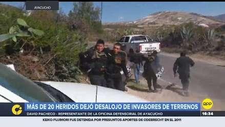 Ayacucho | Más de 20 heridos y un muerto dejó intento de desalojo de invasores