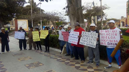 Monsefú: obreros municipales paralizan labores por 24 horas