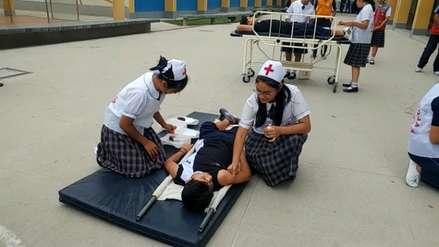 Escolares de 1 300 colegios participaron de penúltimo simulacro de sismo