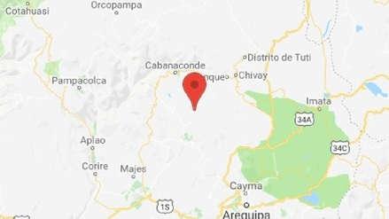 Arequipa   Un sismo de magnitud 3.6 sacudió Caylloma esta tarde