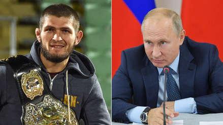 Putin lanzó advertencia a Khabib Nurmagomedov por su conducta tras pelea con Connor McGregor