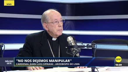"""Juan Luis Cipriani: """"Hay una estrategia para cerrar el Congreso"""""""