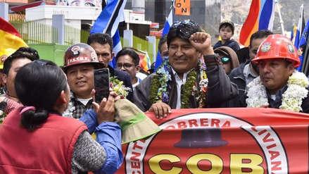 Evo Morales en puerto de Ilo: