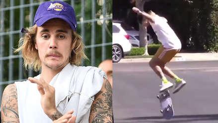 ¿Superó la crisis de Selena Gomez? Justin Bieber se mudó y es captado patinando