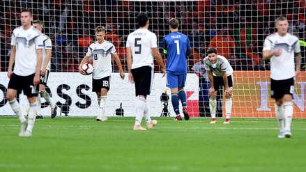 Las estadísticas negativas de Alemania tras perder ante Holanda