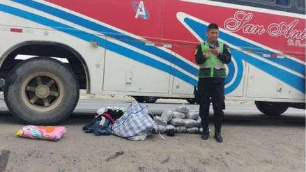 Intervienen a mujer con marihuana en bus que partió de Pataz
