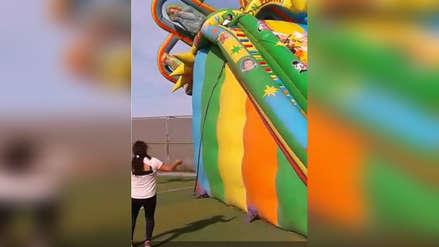 Colegio Médico se pronunció por accidente de niña que cayó de juego inflable
