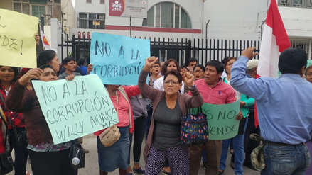 Elecciones 2018 | Pobladores de Olmos y Cayaltí protestan pidiendo nuevas elecciones
