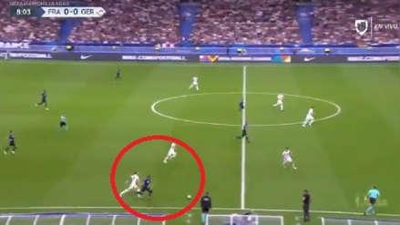 Mbappé dejó en ridículo a Kroos con impresionante corrida en el Francia vs. Alemania