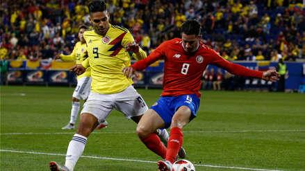 Colombia derrotó 3-1 a Costa Rica en el amistoso FIFA jugado en Nueva Jersey
