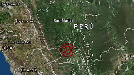 Un sismo de magnitud 4.9 remeció la región San Martín esta mañana