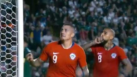Arturo Vidal mandó a callar a los hinchas mexicanos tras el gol de Chile
