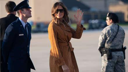 Avión que trasladaba a Melania Trump aterrizó de emergencia