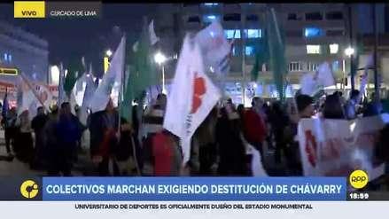 Colectivos y ciudadanos marchan y exigen la destitución de  Pedro Chávarry