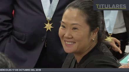 El gesto que le envió Keiko Fujimori a Mark Vito Villanella cuando lo vio en la audiencia