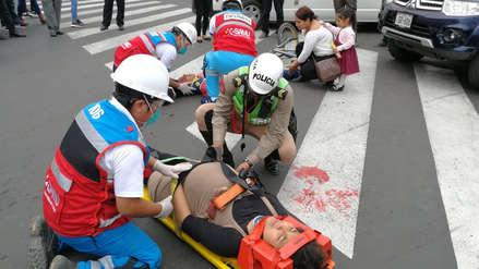 Realizan simulacro de accidente por uso del teléfono celular