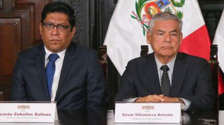 Congreso aprueba citar a César Villanueva y a Vicente Zeballos por fuga de Hinostroza