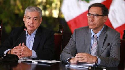 Martín Vizcarra ratificó su confianza en César Villanueva tras la captura de Hinostroza