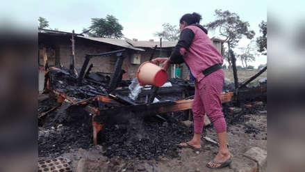 Se incendia módulo donde vivía damnificada por Fenómeno El Niño