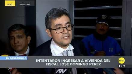 Fiscal José Domíngo Pérez denuncia que forzaron la cerradura de su vivienda