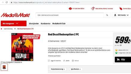 Tienda alemana abre reservas para la versión de PC de Red Dead Redemption 2