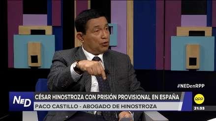 Abogado de César Hinostroza asegura que no aplica la expulsión para su defendido