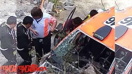 Caminos del Inca 2018: Raúl Orlandini quedó fuera del Rally tras sufrir un aparatoso accidente