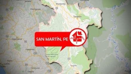 Sismo de magnitud 5.4 remeció esta tarde el departamento de San Martín
