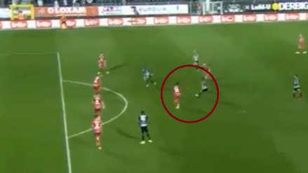 Cristian Benavente y el golazo de fuera de área que metió con el Sporting Charleroi