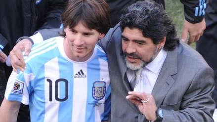Diego Maradona olvidó su polémica con Lionel Messi y lo llenó de elogios