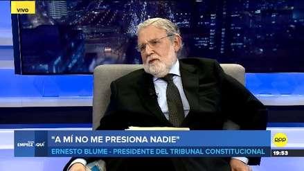 Ernesto Blume: El lunes se publicará el texto que declara inconstitucional la Ley sobre Publicidad Estatal