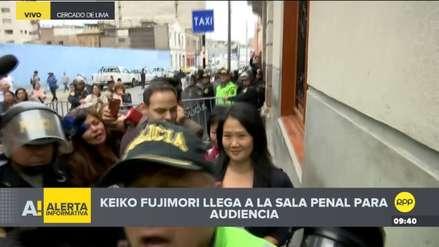 Keiko Fujimori llegó a la Sala Penal para audiencia de prisión preventiva