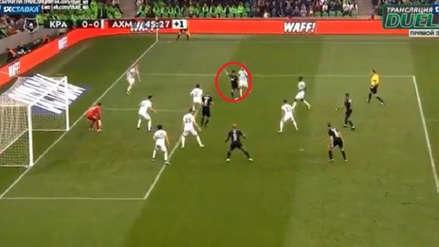 Christian Cueva casi anota de zurda su primer gol con el Krasnodar