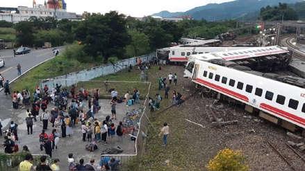 Al menos 18 muertos y 187 heridos tras el descarrilamiento de un tren en Taiwán