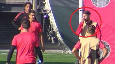 Tensión en el Real Madrid: Sergio Ramos se enfureció y dio dos pelotazos a un juvenil
