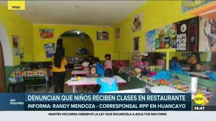 Niños de inicial reciben clases en restaurante al no tener aulas propias