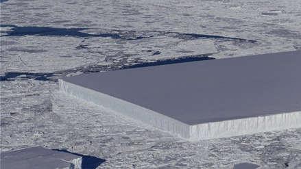 La NASA descubrió un inusual iceberg rectangular en la Antártida
