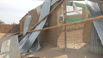 Lambayeque: Fuertes vientos dañan un pronoei en distrito de Mórrope