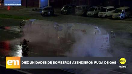 Alarma en la Panamericana Sur por fuga de gas en camión cisterna