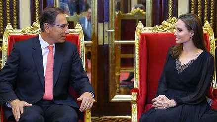 Así fue el encuentro entre Angelina Jolie y Martín Vizcarra en Palacio de Gobierno