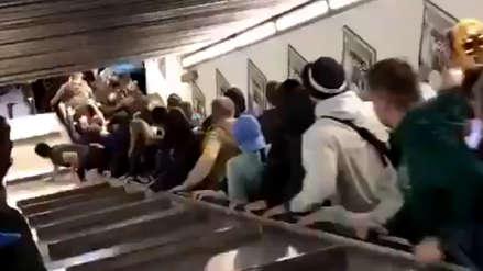 Video | Escalera mecánica en estación de metro de Roma se malogró y dejó 20 heridos