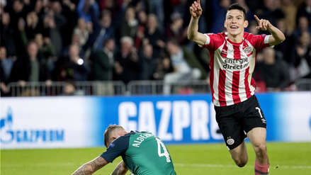 PSV con gol de Hirving Lozano empató con Tottenham en la Champions League